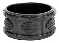H-D BLACK OUTLINE B&S ROUND STEEL RING BAND